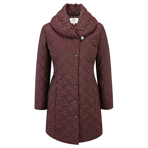 Buy Viyella Wrap Neck Quilted Coat, Purple Online at johnlewis.com
