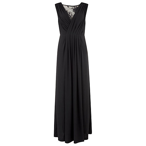 Buy Kaliko Lace Insert Maxi Dress, Black Online at johnlewis.com