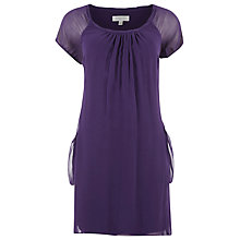 Buy Kaliko Silk Tunic Dress, Purple Online at johnlewis.com