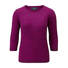Buy Viyella Cable Knit Jumper, Purple Online at johnlewis.com