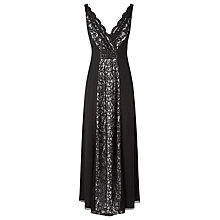 Buy Jacques Vert Lace Panel Maxi Dress, Black Online at johnlewis.com