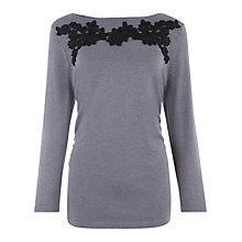Buy Kaliko Lace Applique Jumper, Grey Online at johnlewis.com