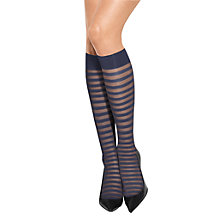 Buy Wolford Nana Striped Knee Highs Online at johnlewis.com