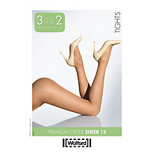 Buy Wolford 15 Denier Sheer Tights, Black Online at johnlewis.com