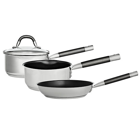 Buy John Lewis Stainless Steel Saucepan Online at johnlewis.com