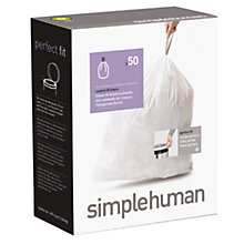 Buy simplehuman Liner 50 Pack Box Online at johnlewis.com