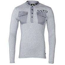 Buy G-Star Raw Parker Long Sleeve T-shirt, Grey Heather Online at johnlewis.com