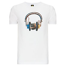Buy Pretty Green Headphones Print T-Shirt Online at johnlewis.com