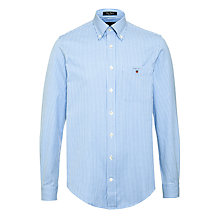 Buy Gant Classic Oxford Gingham Check Shirt, Blue Online at johnlewis.com