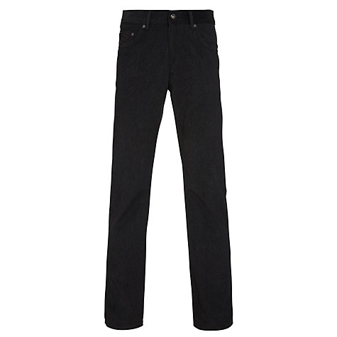 Buy Gant Soft Melange Twill Standard Straight Jeans, Charcoal Online at johnlewis.com