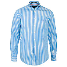 Buy Gant Breton Stripe Long Sleeve Shirt, Bluebell Online at johnlewis.com