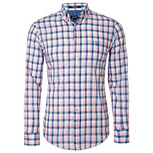 Buy Gant Poplin Check Shirt, Pastel Pink Online at johnlewis.com