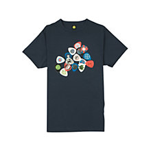 Buy Pretty Green Plectrum Print T-Shirt, Navy Online at johnlewis.com