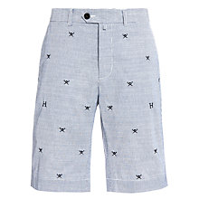 Buy Hackett London Emblem Print Shorts, Blue Online at johnlewis.com