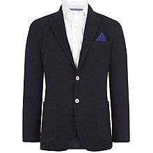 Buy Hackett London Ascot Cotton Blazer, Navy Online at johnlewis.com