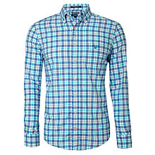 Buy Gant Check Poplin Shirt, Bermuda Blue Online at johnlewis.com