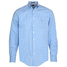 Buy Gant Gingham Button Down Collar Shirt, Bluebell Online at johnlewis.com