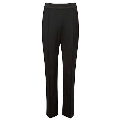 Buy Viyella Crepe Slim Leg Trouser, Black Online at johnlewis.com