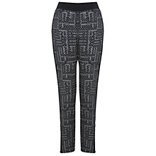 Buy Miss Selfridge Monochrome Printed Zip Trousers, Assorted Online at johnlewis.com
