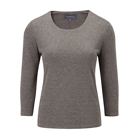 Buy Viyella Jacquard Spot Jersey Top, Grey Online at johnlewis.com