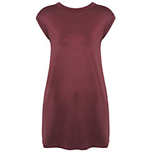 Buy Miss Selfridge Slinky Tunic T-Shirt, Burgundy Online at johnlewis.com