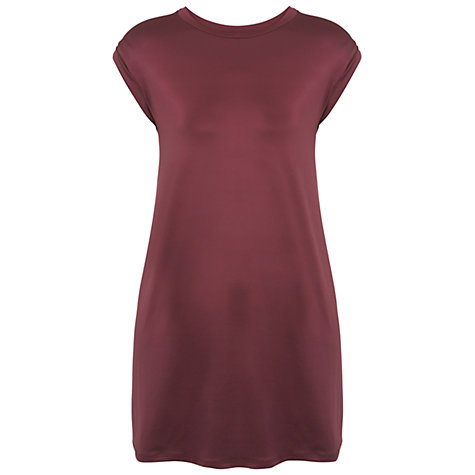 Buy Miss Selfridge Slinky Tunic T-Shirt, Grey Online at johnlewis.com