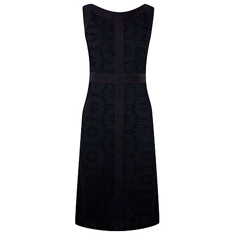 Buy Planet Lace Panel Dress, Black Online at johnlewis.com