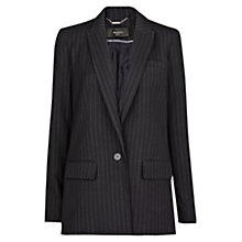 Buy Mango Oversized Pinstripe Blazer, Dark Blue Online at johnlewis.com