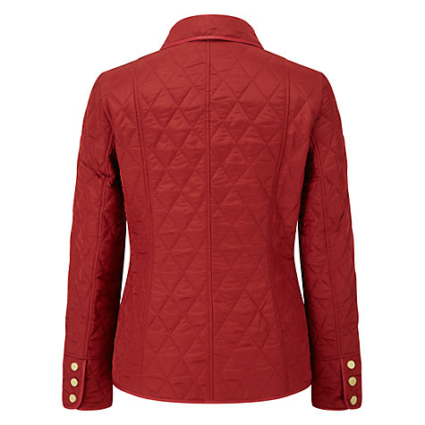Buy Viyella Quilt Check Riding Jacket, Red Online at johnlewis.com