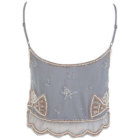 Buy Miss Selfridge Embellished Camisole Top Online at johnlewis.com
