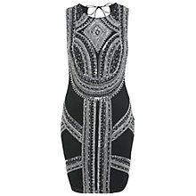 Buy Miss Selfridge Warrior Embellished Dress, Black Online at johnlewis.com