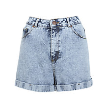 Buy Miss Selfridge Acid Wash Denim Short, Mid Wash Denim Online at johnlewis.com