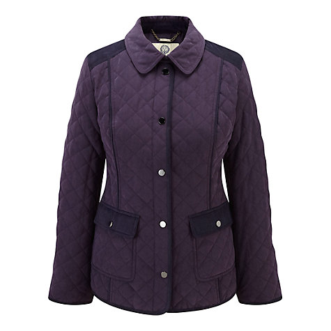 Buy Viyella Blackberry Turnback Cuff Riding Jacket, Blue Online at johnlewis.com