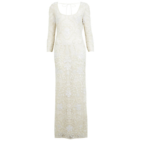 Buy Miss Selfridge Embellished Maxi Dress, Cream Online at johnlewis.com