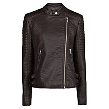 Buy Mango Quilted Faux Leather Biker Jacket Online at johnlewis.com