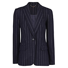 Buy Mango Pin-Stripe Blazer, Blue Online at johnlewis.com