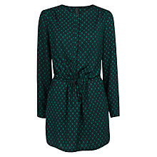 Buy Mango Ikat Dress, Green Online at johnlewis.com