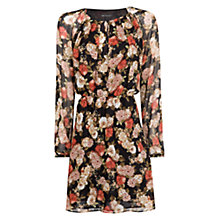 Buy Mango Floral Print Chiffon Dress, Multi Online at johnlewis.com