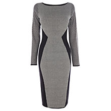 Buy Oasis Diamond Jacquard Bodycon Dress, Black/White Online at johnlewis.com