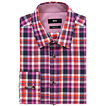 Buy BOSS Lucas Check Long Sleeve Shirt Online at johnlewis.com