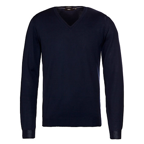 Buy Boss Black Melba Merino V-Neck Jumper Online at johnlewis.com
