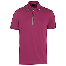 Buy Boss Black Firenze 4 Button Contrast Tipped Polo Shirt Online at johnlewis.com