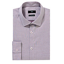 Buy BOSS Nemos Long Sleeve Shirt, Red Online at johnlewis.com