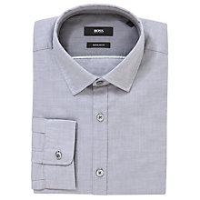Buy BOSS Lorenzo Long Sleeve Shirt, Grey Online at johnlewis.com