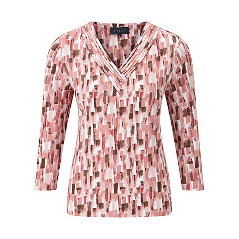 Buy Viyella Watercolour Printed Top, Rose Online at johnlewis.com