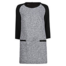Buy Mango Boucle Wool-Blend Dress, Black Online at johnlewis.com
