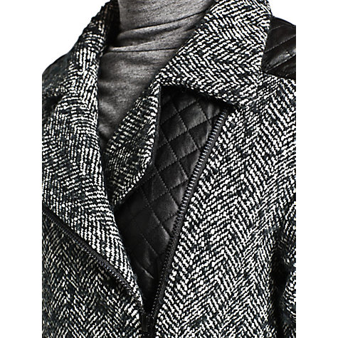 Buy Mango Oversized Herringbone Jacket, Black Online at johnlewis.com