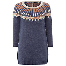 Buy White Stuff Aztec Tunic, Tree Brown Online at johnlewis.com