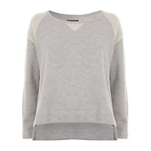 Buy Mint Velvet Blocked Sweat Top, Grey Online at johnlewis.com