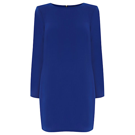 Buy Warehouse Shoulder Pad Shift Dress, Navy Online at johnlewis.com